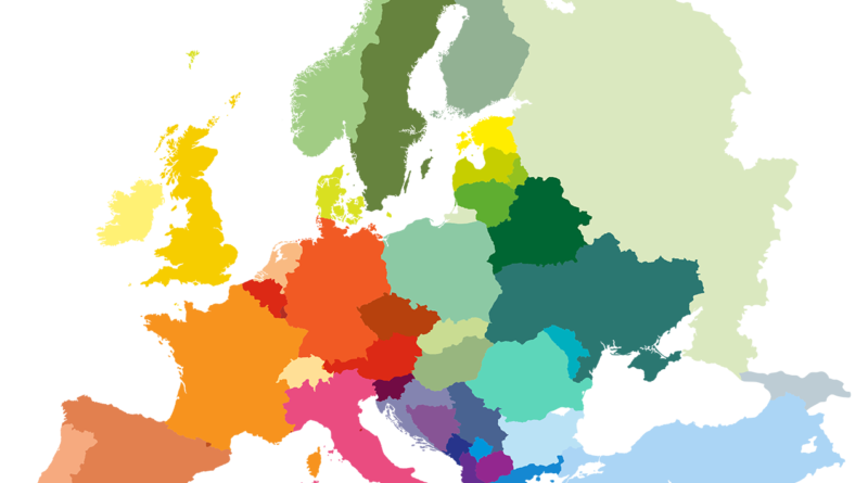 Europe map study